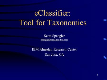 eClassifier: Tool for Taxonomies