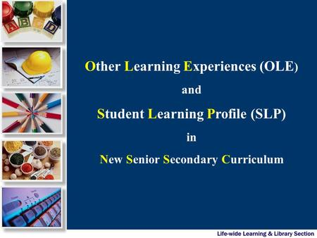 Other Learning Experiences (OLE ) and Student Learning Profile (SLP) in New Senior Secondary Curriculum.