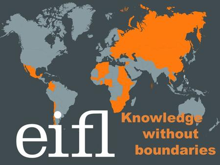 Knowledge without boundaries. Usage Perception study findings IFLA, Helsinki, 2012.