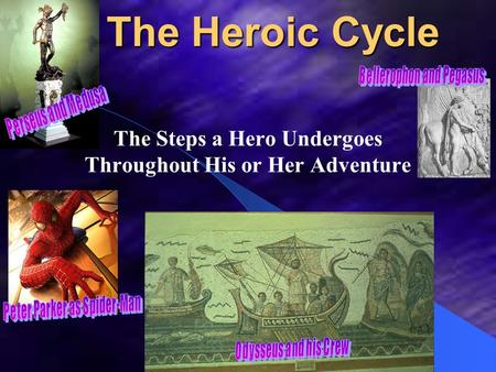 The Heroic Cycle The Steps a Hero Undergoes Throughout His or Her Adventure.