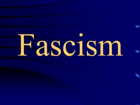 Fascism. Roman Symbol of Power (The Fascisti=bundle of sticks)
