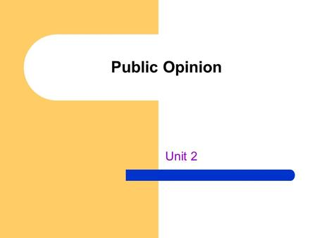 Public Opinion Unit 2. Inconsistencies Unpopular government actions Popular rule vs. popular policies How to gauge what the public interests are Political.