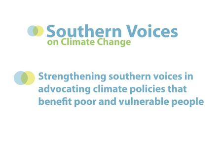 Southern Voices networks Asia Consortium and networks.