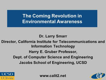 The Coming Revolution in Environmental Awareness