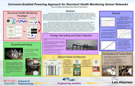 Engineering Institute Corrosion-Enabled Powering Approach for Structural Health Monitoring Sensor Networks Scott A. Ouellette, David Mascareñas, Michael.