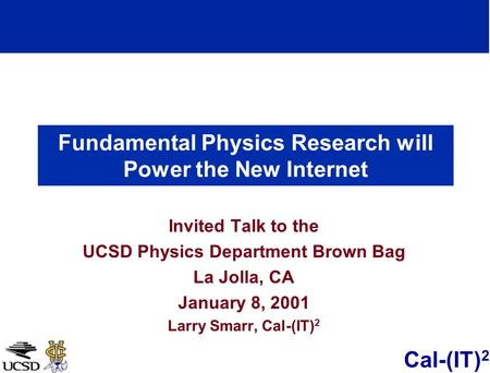 Fundamental Physics Research will Power the New Internet
