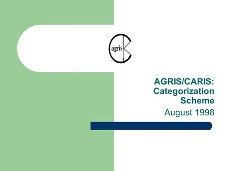 AGRIS/CARIS: Categorization Scheme August 1998. A. AGRICULTURE IN GENERAL A01 Agriculture - General aspects Considerations on agriculture in its wide.