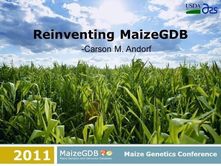 Reinventing MaizeGDB Maize Genetics Conference -Carson M. Andorf 2011.