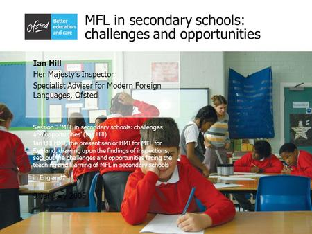 MFL in secondary schools: challenges and opportunities