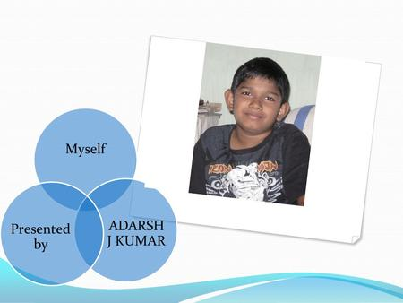 Myself ADARSH J KUMAR Presented by.