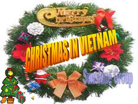 Most people in Vietnam are not Christians but we also have a very warm and happy Christmas day.