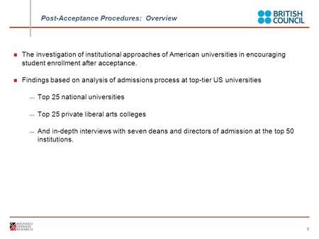 US University Best Practices for Encouraging Enrollment January 2008.