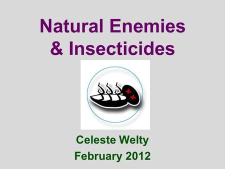 Natural Enemies & Insecticides Celeste Welty February 2012.