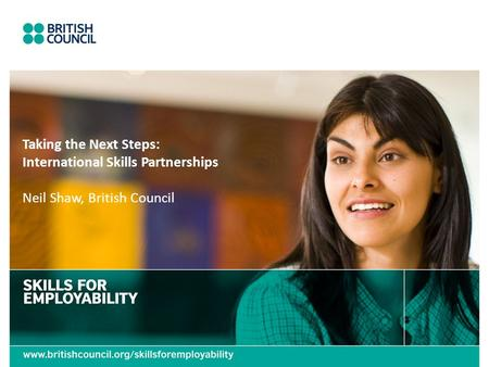 Taking the Next Steps: International Skills Partnerships