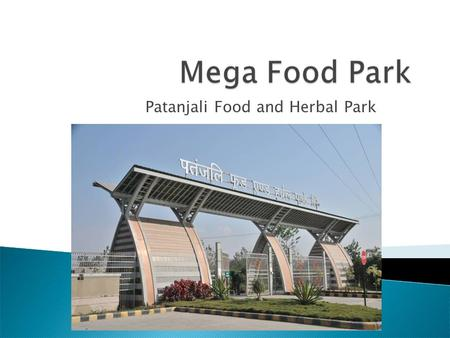 Patanjali Food and Herbal Park. Role of agriculture, horticulture and food processing in India cannot be overstated. Food processing sector is poised.