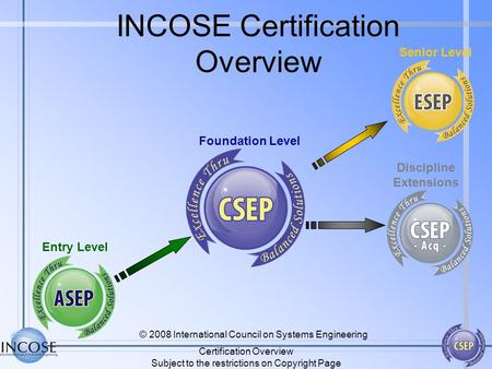 INCOSE Certification Overview