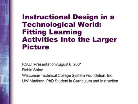 learning and instruction theory into practice