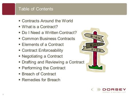 Basics of U.S. Contract Law David J. Mack Dorsey & Whitney LLP 51 West 52nd Street New York, New York 10019 P:212.415.9200 F:646.390.6575