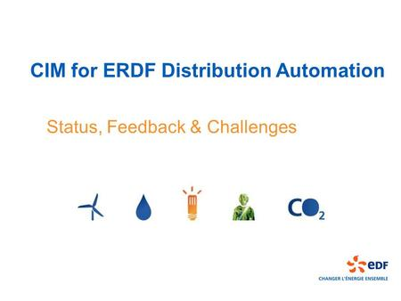 CIM for ERDF Distribution Automation
