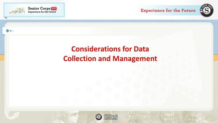 Considerations for Data Collection and Management.