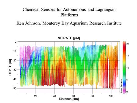 Chemical Sensors for Autonomous and Lagrangian Platforms Ken Johnson, Monterey Bay Aquarium Research Institute.