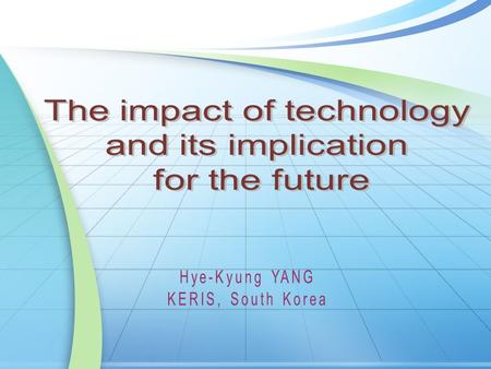 1. Impacts of technology in HE 2. Challenges 3. Policy Implications 4. Conclusions Contents.