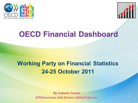 OECD Financial Dashboard Working Party on Financial Statistics 24-25 October 2011 1 By Isabelle Ynesta STD Directorate, NAD Division, QNA&FS Section.