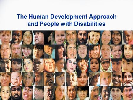 The Human Development Approach and People with Disabilities.