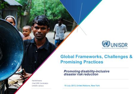 Promoting disability-inclusive disaster risk reduction