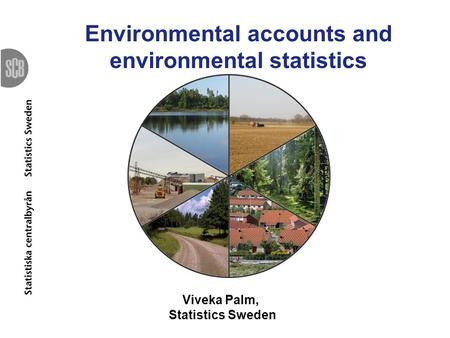 Environmental accounts and environmental statistics Viveka Palm, Statistics Sweden.
