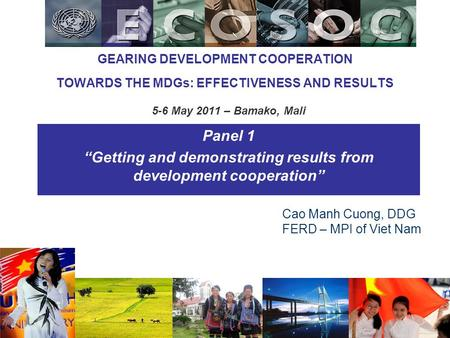 """Getting and demonstrating results from development cooperation"""
