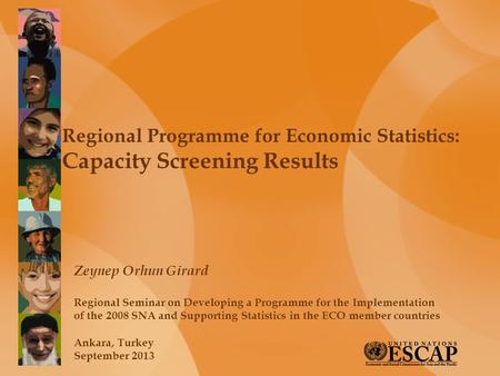 Regional Programme for Economic Statistics: Capacity Screening Results