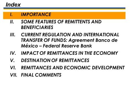 February 20th, 2006 Workers Remittances in Mexico.