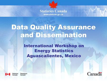 Data Quality Assurance and Dissemination International Workshop on Energy Statistics Aguascalientes, Mexico.