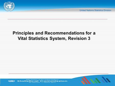 Principles and Recommendations for a Vital Statistics System, Revision 3.