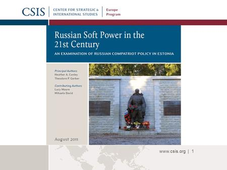 Www.csis.org |1 80.6 n. www.csis.org |2 Definition of Soft Power What is soft power? It is the ability to get what you want through attraction rather.