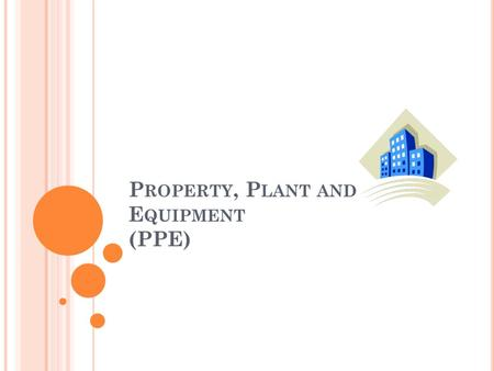 P ROPERTY, P LANT AND E QUIPMENT (PPE). S TRUCTURE Recognition of an asset Changes Classification of property, plant and equipment Depreciation.