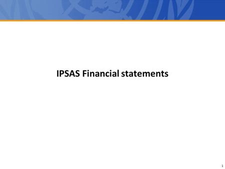IPSAS Financial statements
