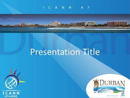Presentation Title. Title Please use 32 pt font or higher for body text. Many attendees of ICANN 46 said that the font size used in slide decks was too.