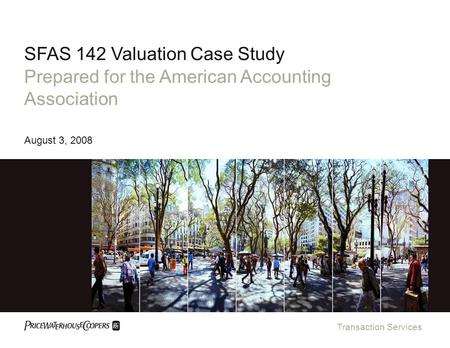 SFAS 142 Valuation Case Study