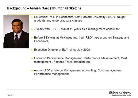 Innovation and Performance measurement Dr. Ashish Garg 9 January, 2009.