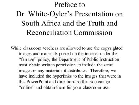 south africa truth and reconciliation commission When apartheid was abolished in the 1990's, south africans had to find a way to confront their brutal past without endangering their chance for future peace but it was a challenging process for .