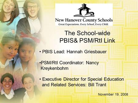 The School-wide PBIS& PSM/RtI Link