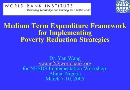 Medium term expenditure framework nigeria 2016