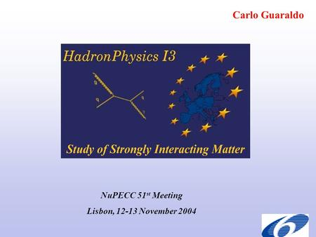 Carlo Guaraldo NuPECC 51 st Meeting Lisbon, 12-13 November 2004.