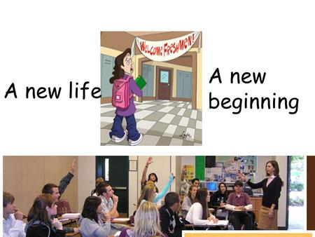 A new life A new beginning. Everybody in O.H. Middle School seems very smart while I am clumsy in front of the long and difficult classroom work. ---