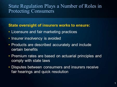 Protecting Consumers Through Insurance Regulation Commissioner Sandy Praeger State of Kansas October 3, 2008.