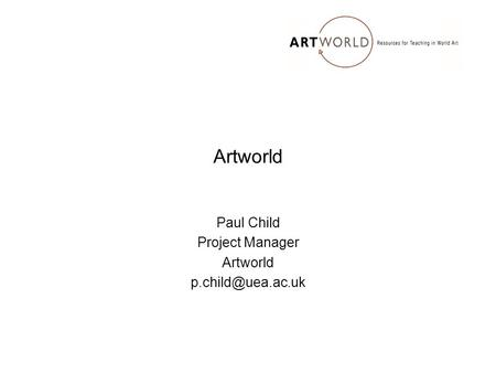 Artworld Paul Child Project Manager Artworld