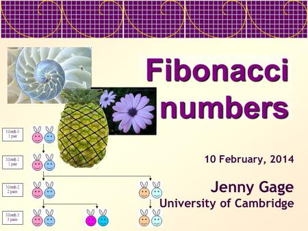 27 March, 2017 Jenny Gage University of Cambridge