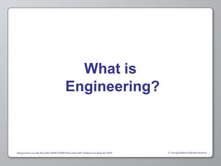 What is Engineering?.